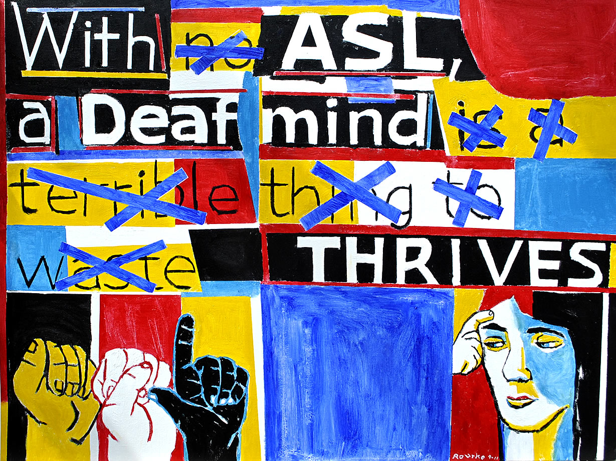 a personal perspective on the deaf language and culture - the cognitive imperative of american sign language as a cultural group, deaf americans present a thriving and distinct example of language in action many of the traditions of deaf culture—including storytelling, word games, etc—are celebrations of american sign language (asl.